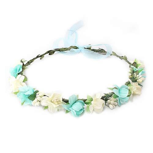 Keit Bandeau élégant et moderne en perles de cristal pour femme avec nœud épaissi, accessoire de cheveux pour fille, fil réglable, guirlande de cheveux doux pour de nombreuses utilisations