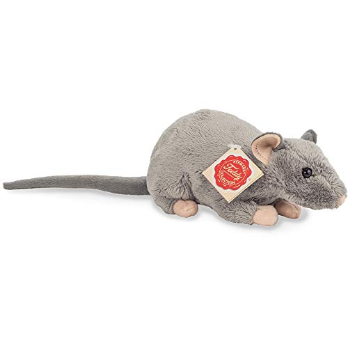Teddy Hermann 92652 Ratte 18 cm, Kuscheltier, Plüschtier
