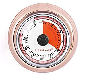Kikkerland KT051-CO Magnetic Kitchen Timer, Copper
