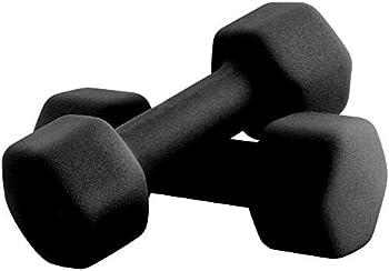 Portzon Set of 2 Neoprene Anti-Slip Dumbbell Hand Weights