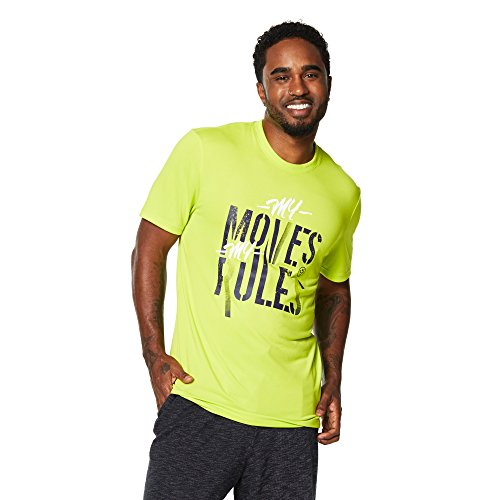 Zumba Fitness Moves My Rules tee Camisetas, Hombre, Verde, L