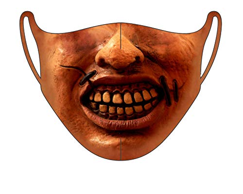 CNS MASK | Scary Halloween FACE Cloth MASK for Adults | Creepy Realistic Halloween Face Cloth Mask | Creepy Printed Face Cloth for Women & Men