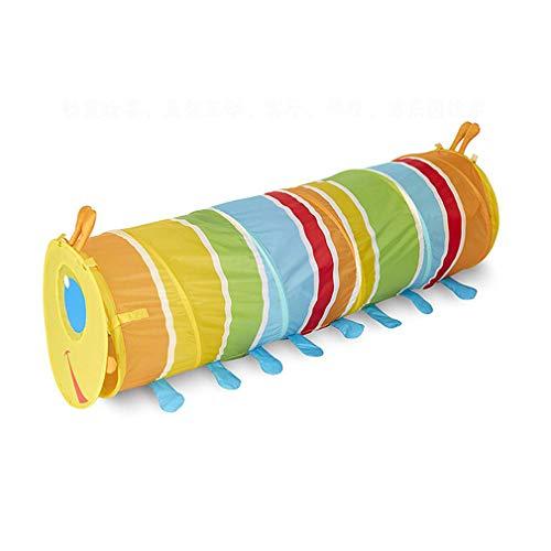 Túnel de juguete para niños con forma de oruga desplegable para rastrear túnel plegable para niños pequeños, perros, bebés, bebés y niños, regalo para interiores