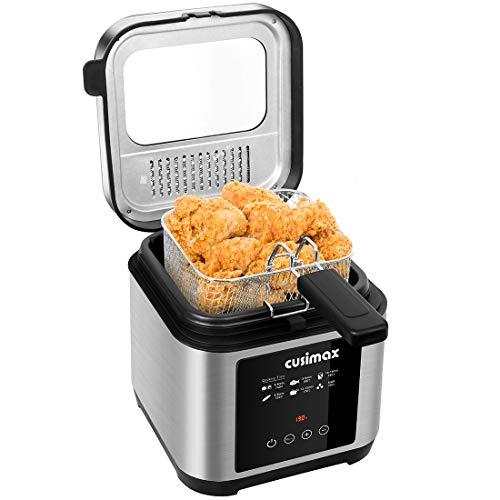 Deep Fryer, CUSIMAX 2.5L Touchscreen Deep Fat Fryer, with Timer and...