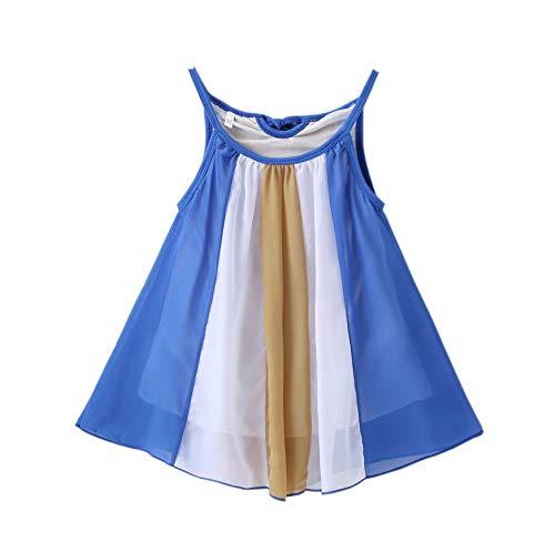 Transer Robe bébé Fille Robe en Mousseline de Soie Arc-en-Ciel pour Fille 1-5 Ans