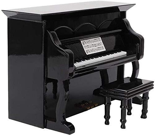 FTVOGUE Miniatura de Madera Modelo de Piano Instrumento Musical Decoración para el hogar Adornos Muebles Escena Accesorios