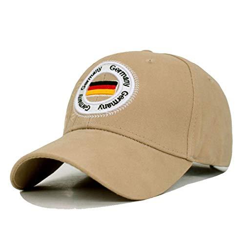 Gorra de algodón de la Marca de Alemania Marca Hombres Gorra de béisbol Mujeres Gorras Snapback Sombreros para Hombres Hueso Casquette fit Gorras papá Gorra de béisbol Masculina Gorra Caqui