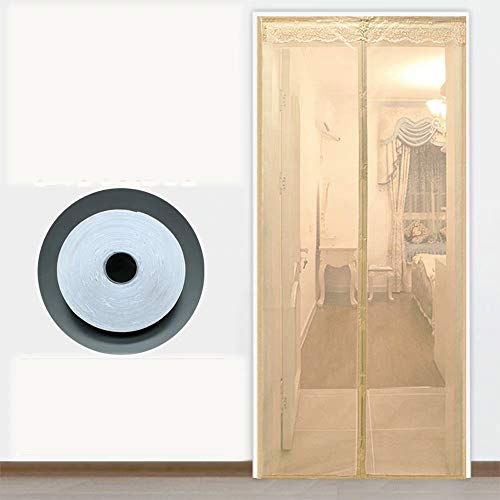 Hordeur magnetisch, magneet hor hordeur hor zelfklevend zonder boren, voor deuren/terras - beige