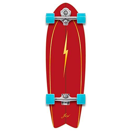 YOW Pipe 32' Power Surfing Series Surfskate, Skateboard. Unisex-Adulto, Multicolore (Multicolore), 10' x 31.0