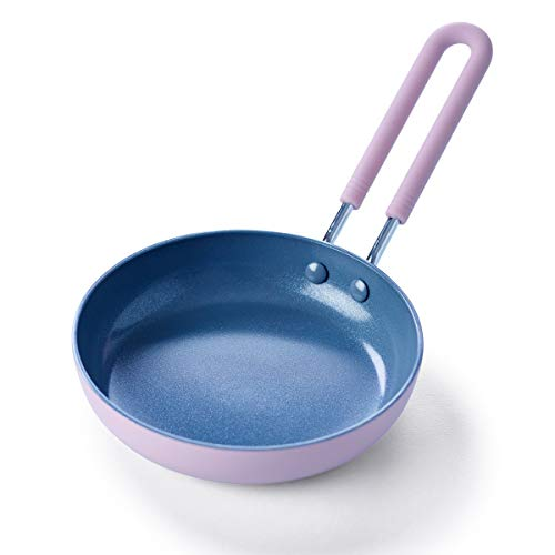 GreenPan Mini Healthy Ceramic Nonstick Lavender Egg Pan, 5'