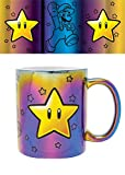 Nintendo FMG25308 Becher Metallic 315 ml / 11 oz-Super Mario (Star Power)