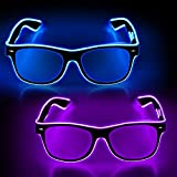 YouRfocus Led Light up Glasses 2 Pack Glow in...