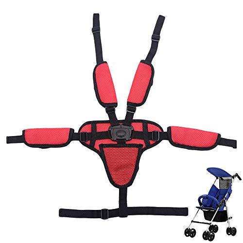 Baby 5 Punkt-Gurtsystem Kinderschutzgurt für Buggy Hochstuhl Kinderwagen Buggy, Universal Kinderschutz Gurt Baby Sicherheitsgurt Für Kinderwagen-Hochstuhl mit Schulterpolsterung