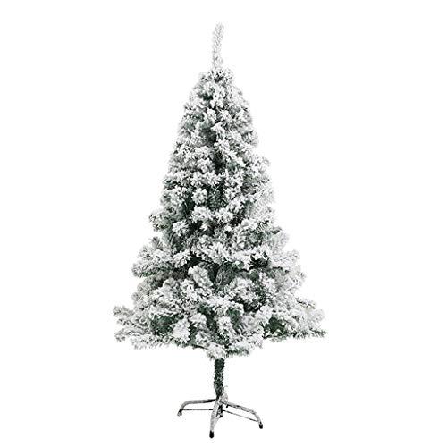Dvnfdsj Kunstmatige Sneeuw Flocking kerstboom, kerstavond Mall raamdecoratie met massief metalen poten kerstboom