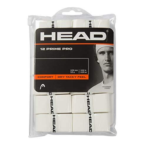 HEAD Unisex-Erwachsene 12 Prime Pro Griffband, weiß, Einheitsgröße