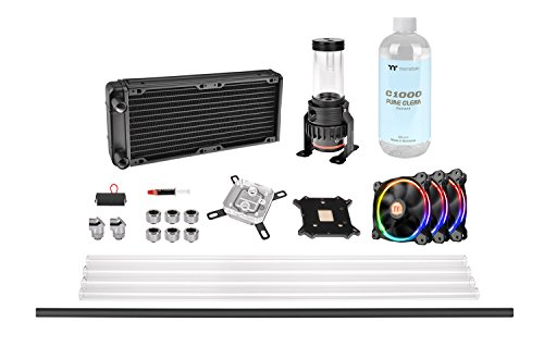 Thermaltake Pacific M240 DIY Liquid Cooling Kit/Hard Tube - Sistema de refrigeración líquida, Color Negro