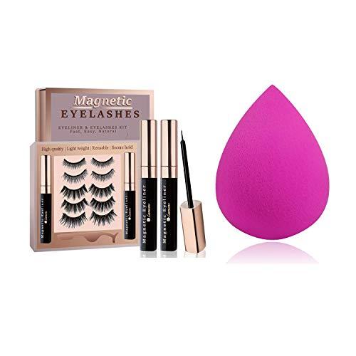 Makeup Sponge Blender with Magnetic Eyelashes