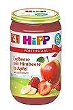 Hipp Früchte, Erdbeere mit Himbeere in Apfel, 6er Pack (6 x 250 g)