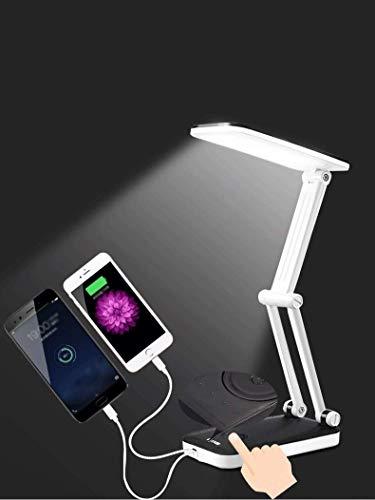 HXCD Klappbare Schreibtischlampe , Augenschutz-LED-Lampe , LED-Leseschreibtischleuchte , Tragbares USB-Lade- und...