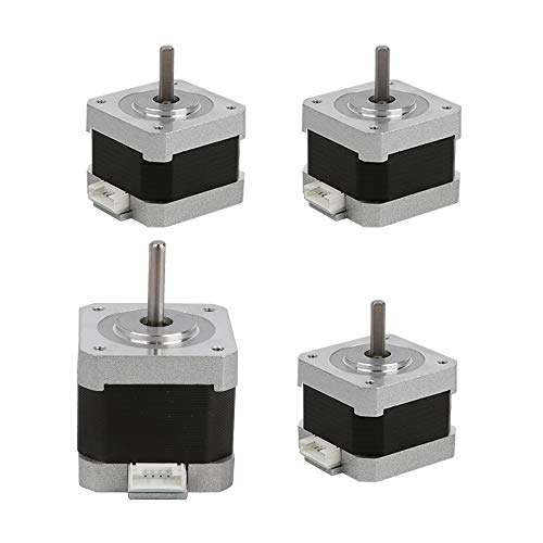 Creality 3D Printer Original Stepper Motor 42-40/1pcs and 42-34/3pcs 2 Phase 0.8A 1.8 Degree 0.4N.M for 3D Printer DIY CNC Accessory Replacement, 4pcs/Pack