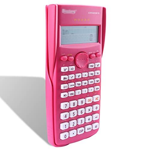 calculadoras Calculadora Científica Pantalla De 2 Líneas 240 Funciones con Tapa Trasera Deslizante para La Calculadora De Estudiantes Calculadoras Básicas (Color : Rose Red)