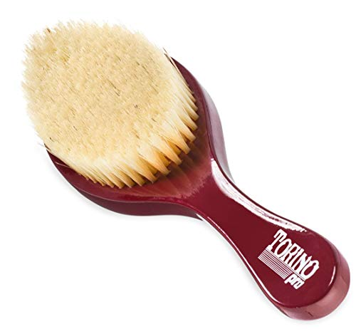 Torino Pro Wave Brush #490 by Brush King - Medium Curve Wave Brush - Made with 100% Boar Bristles - All Purpose Wave Brush Great 360 Waves Brush- Read description