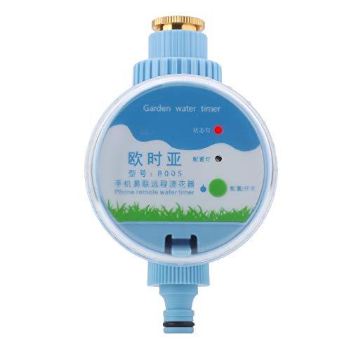Timer di Irrigazione, WiFi Elettronico Automatico Giardino Timer di Rrrigazione Supporto per App Telecomando Smart Home per Giardino Domestico/Giardino Pensile/Prato