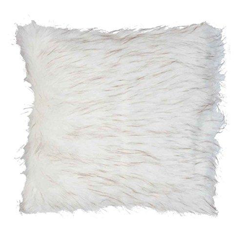 Clayre & Eef kt030.047 Housse de Coussin Approx. 50 X 50 cm Housse de Coussin Fausse Fourrure Blanc