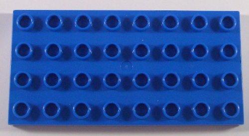 Lego Duplo Bauplatte Platte 4x8 blau