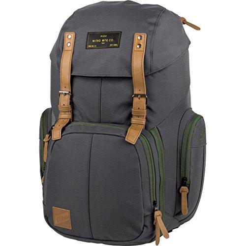 Weekender Alltagsrucksack mit gepolstertem Laptopfach, Schulrucksack, Wanderrucksack inkl. Nassfach, 42 L, Pirate Black