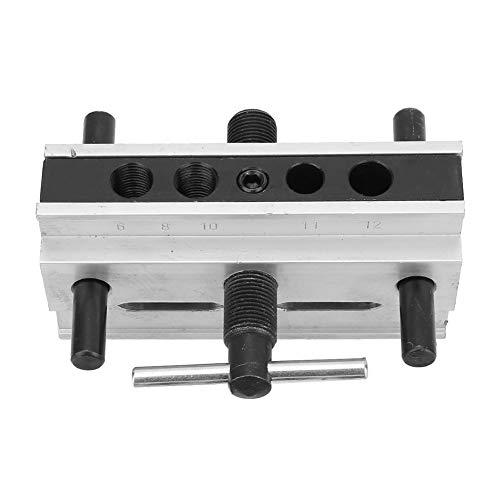 Plantilla de carpintería de aleación de aluminio, pasador de taladro de metal duradero resistente ajustable, para taladrar agujeros para hacer juntas