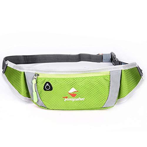QXbecky Sac de taille imperméable extérieur sport respirant poches avec écouteurs trou ultra léger poches téléphone sac de téléphone vert 20x11cm