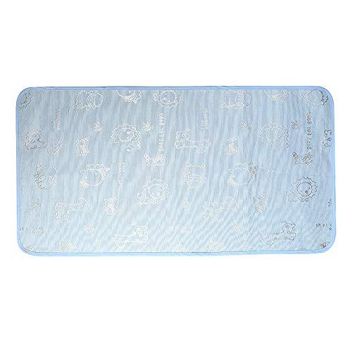 Alfombrilla de orina de seda de hielo, para verano, impermeable, transpirable y lavable, color azul