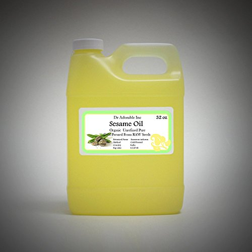 Sesame Seed Oil Unrefined Organic From Raw Seed by Dr.Adorable 32 Oz/ 1 Quart