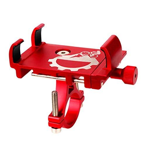 Katyma Soporte de teléfono para bicicleta, de aleación de aluminio, ajustable, para manillar de motocicleta