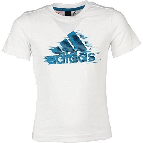 adidas Camiseta Casual Niño K Grph Tee (116, Blanco)