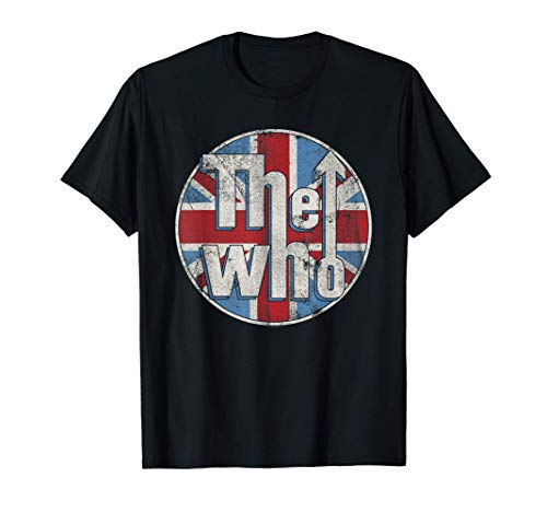 the whos The Who Official Distressed Union Jack Circle Logo T-Shirt