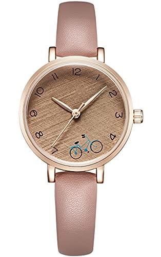 KDM Reloj Mujer Ultra Delgada Minimalista Relojes Mujeres Impermeable Pulsera Mujer Señoras Elegante Clásico Vestido de Negocios Casual Relojes Analógicos Mujeres Café