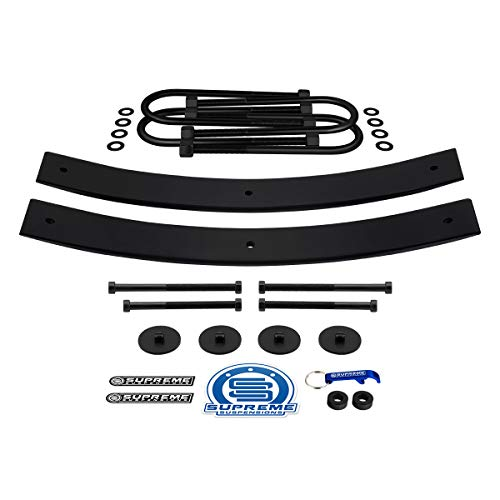 Supreme Suspensions - Rear Leveling Kit for 1997-2003 Ford F150 1.5' - 2' Rear Suspension Lift High-Strength Steel Add-A-Leaf Kit (21' Short AAL) + Square Bend U-Bolts 4WD