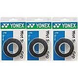 ヨネックス(YONEX) テニス バドミントン グリップテープ ウェットスーパーグリップ 3本入り×3個セット ブラック AC102