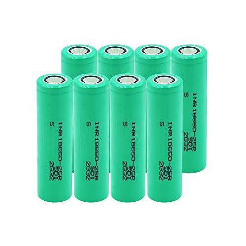softpoint Batería De Iones De Litio De Corriente De Descarga Inr 18650 25r 20a, Pilas De Repuesto Recargables De Litio De 2500 Mah 10pieces