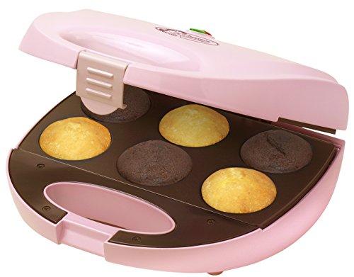 Bestron DCM8162 cupcake-maker, roze, voor 6 cupcakes