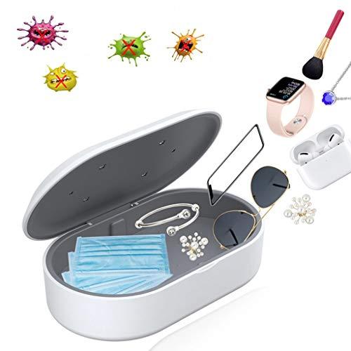 UV Smartphone Desinfektionsmittel, Tragbar mit Aromatherapie Funktion, Handy Reiniger Geeignet für iPhone und Android Geräte, Zahnbürste, Schmuck, Uhr