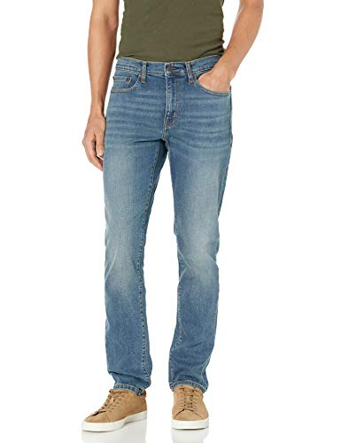 Amazon Essentials Slim-Fit Stretch Jean Vaqueros, Mediana Vintage, 34W / 32L