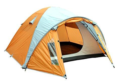 MONTIS HQ Ohio Zelt für 2 bis 4 Personen Mann, wasserdicht & Ultra-leicht mit Innenzelt, Vordach & Moskitonetz, Premium-Zelt, geeignet als Reise- Trekking- & Caming-Zelt mit Tragetasche