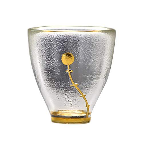 Demarkt Pequeña taza de té resistente al calor, aislamiento térmico y resistente al calor, transparente, para el hogar, Kung Fu