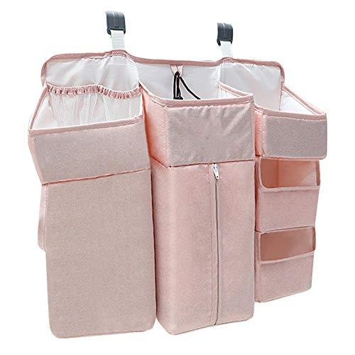 precauti Organizador de pañales para bebé, organizador de pañales y bolsa de almacenamiento de pañales para bebé, cuna, cuna