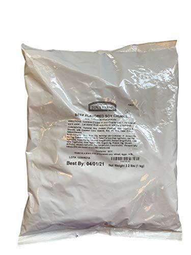Premium Textured Kosher Vegetable Protein TVP Chunks (Beef Chunks, 1 Kilogram)