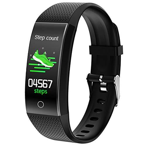 XYZK QW18T Smart Temperaturuhr wasserdichte Herzfrequenzarmband Sleep Monitor für Android iOS,D