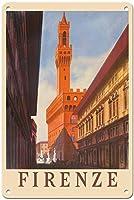 フィレンツェティンサインの装飾ヴィンテージ壁金属プラークレトロアイアン絵画用カフェバー映画ギフト結婚式誕生日警告